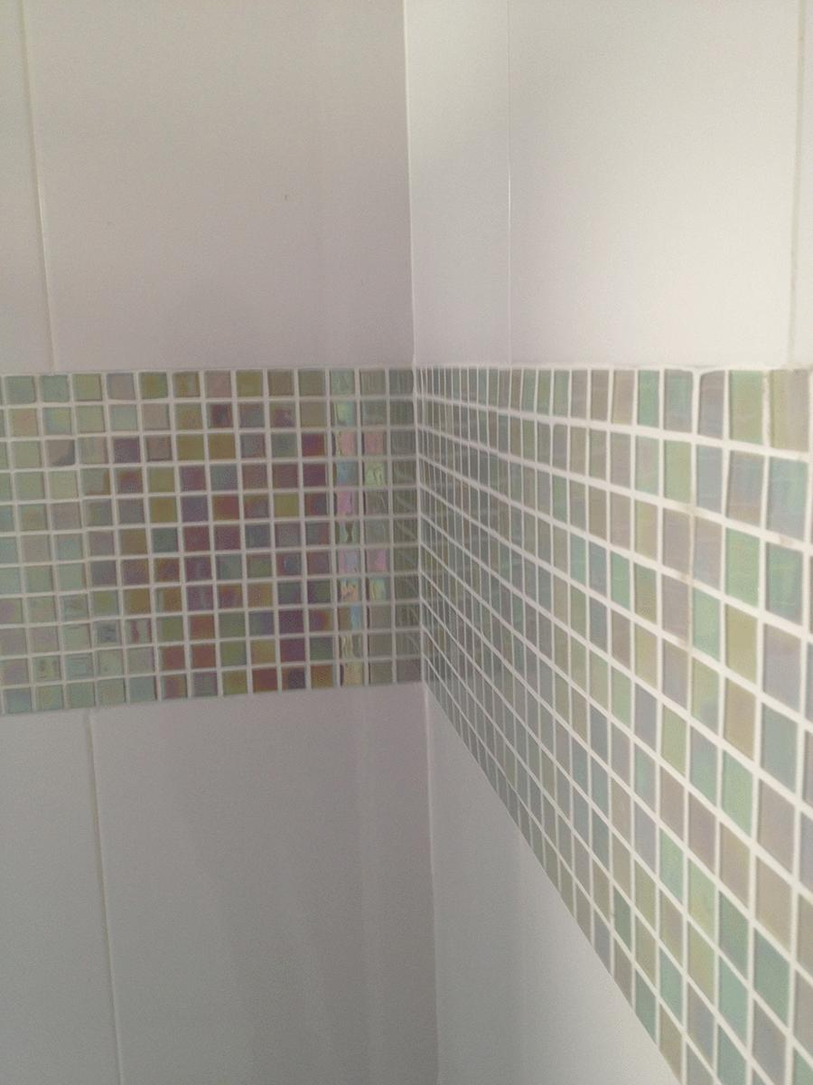 Fotos da Reforma  Brutha Construção e Incorporação -> Banheiro Com Azulejo Pastilha